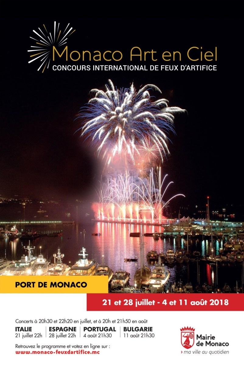Comienza el concurso de fuegos artificiales de Mónaco