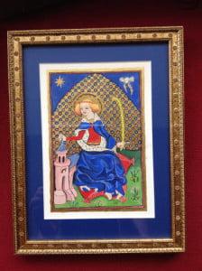 St Barbara Illumination and photo by Karen Hamilton-Viall
