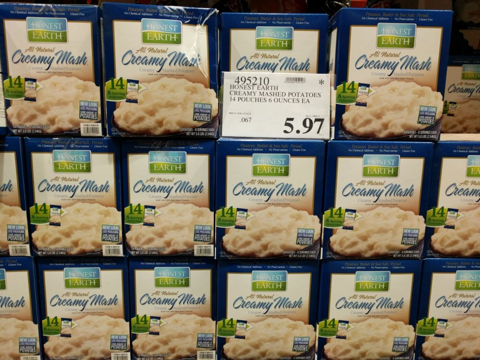 honest earth creamy mashed potatoes costco97 com