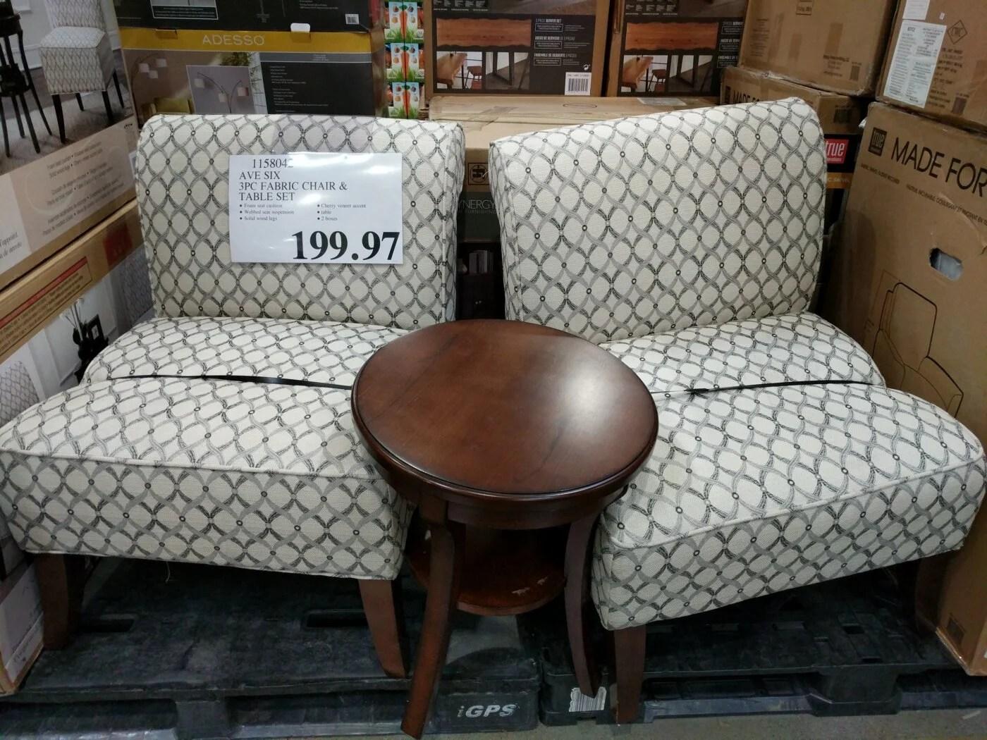 Avenue Six 3 Piece Fabric Chair U0026 Table Set