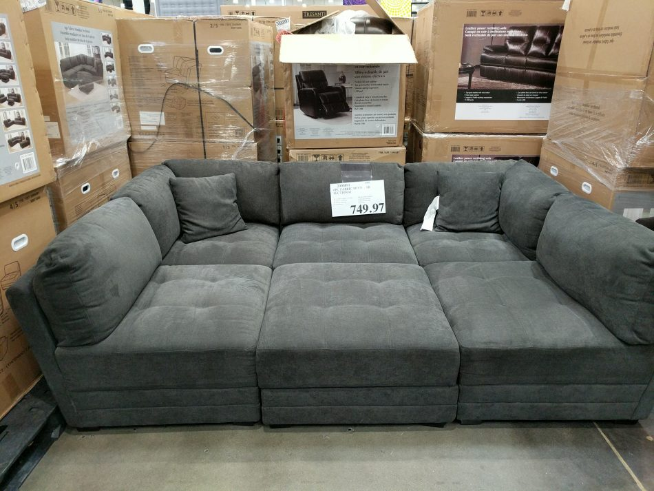 6 piece fabric modular sectional