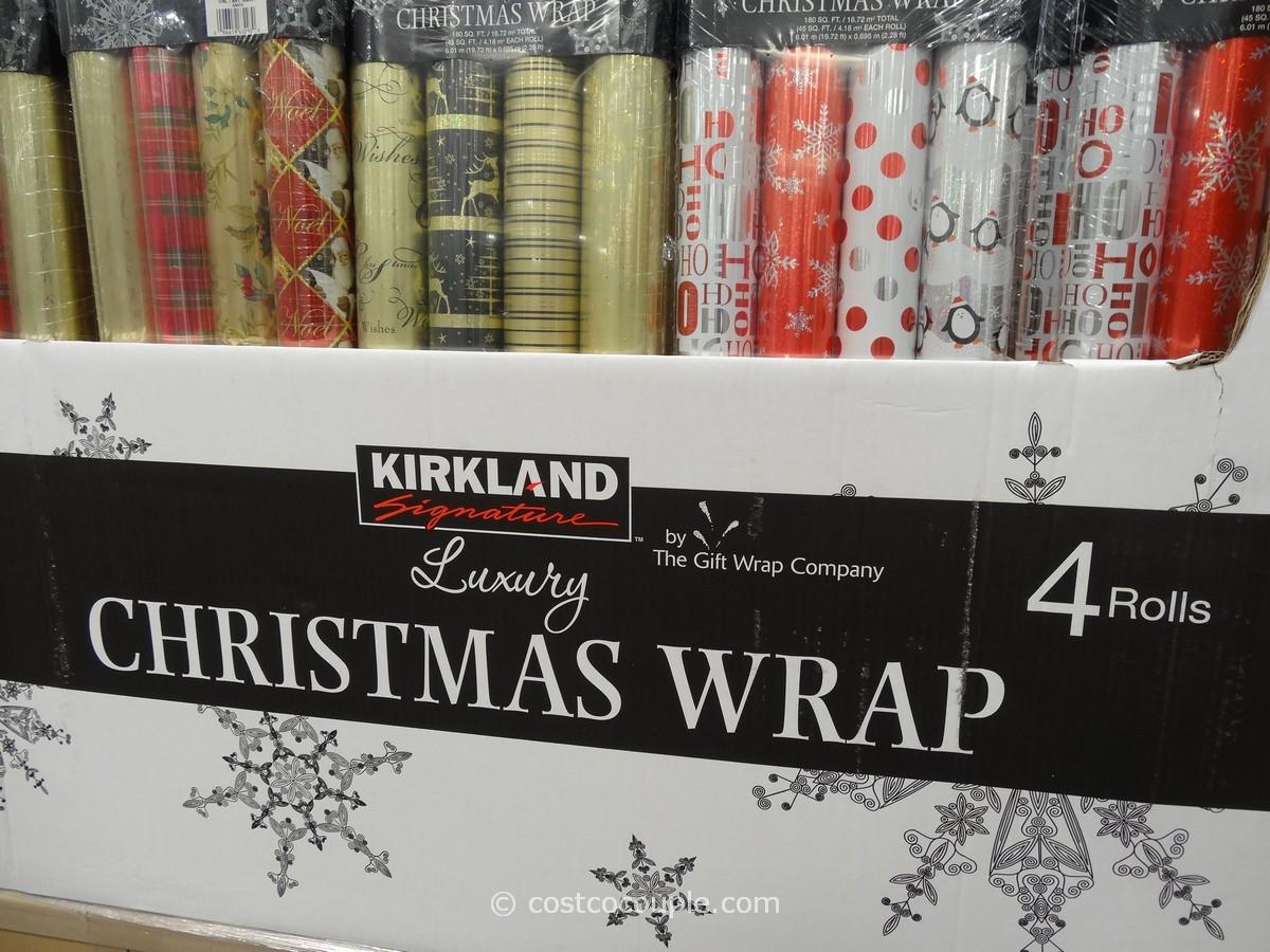 Kirkland Signature 4 Pack Luxury Christmas Wrap