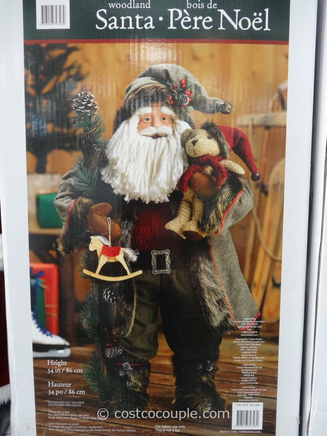 Traditional Or Woodland Fabric Santa