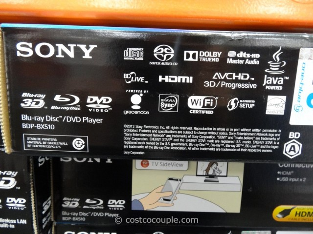 Sony 3d Blu Ray Player With Wifi Bdp Bx510