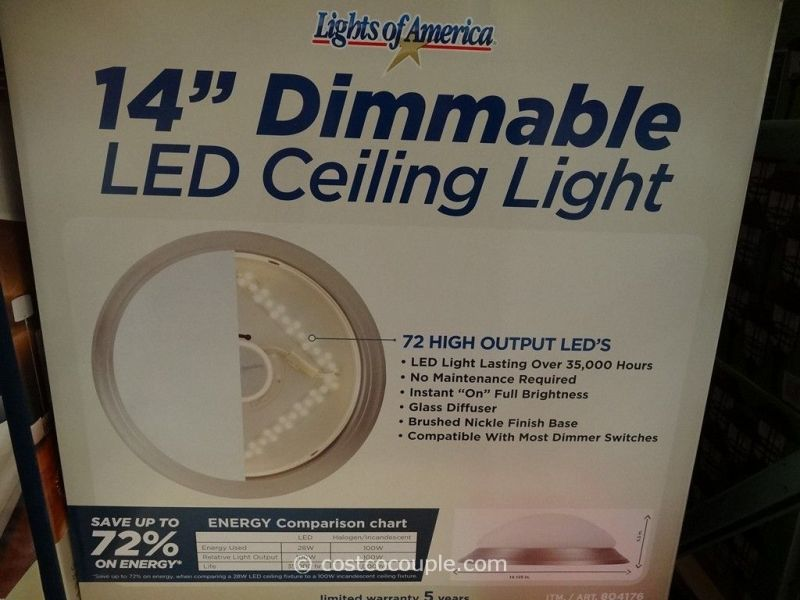 Lights Of America 14 Inch Dimmable LED Ceiling Light     Lights Of America 14 Inch Dimmable LED Ceiling Light Costco 5