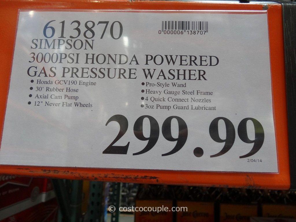 Simpson Gas Powered Pressure Washer