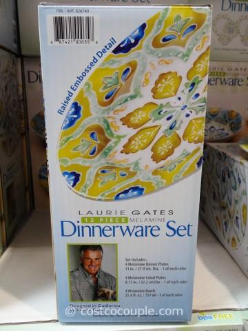 Laurie Gates 12 Piece Melamine Dinnerware Set