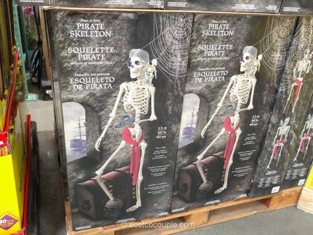 60 Inch Pose N Stay Pirate Skeleton