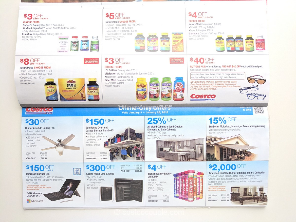 Costco January Coupon Book 010318 To 012818