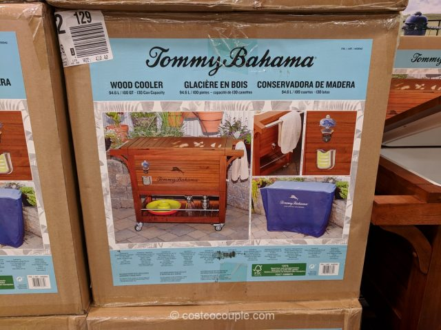 Tommy Bahama Wood Cooler
