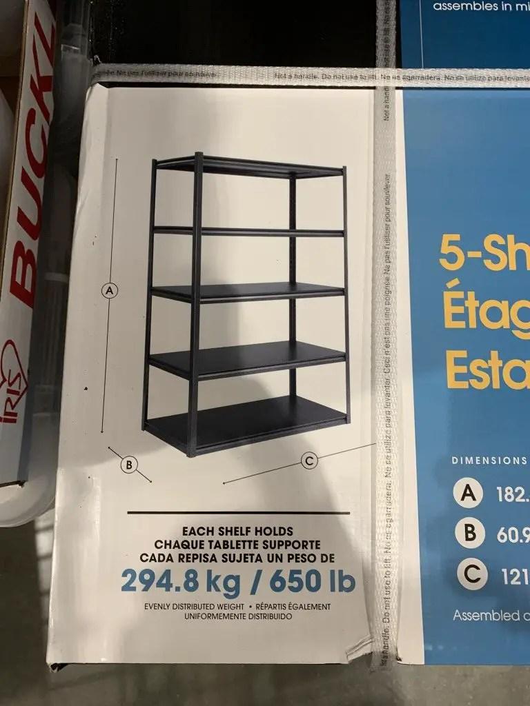 costco whalen storage rack 5 shelf z