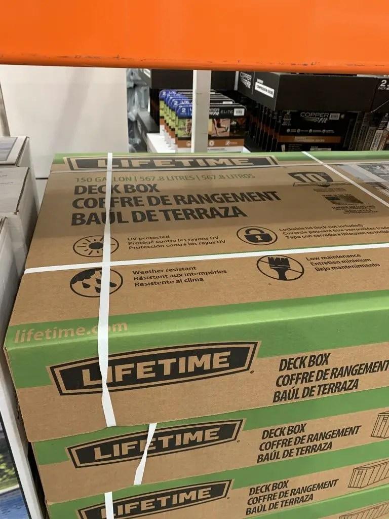 costco deck box lifetime 150 gallon