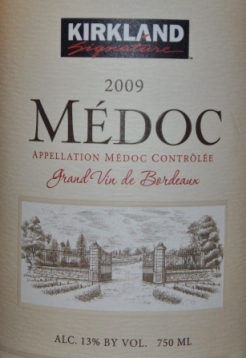 2009 Kirkland Signature Medoc Bordeaux