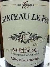 Chateau Le Pey Medoc Bordeaux