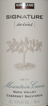 2011 Kirkland Signature Cabernet Mountain Cuvee