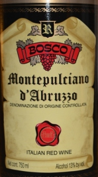 2011 Bosco Montepulciano d'Abruzzo