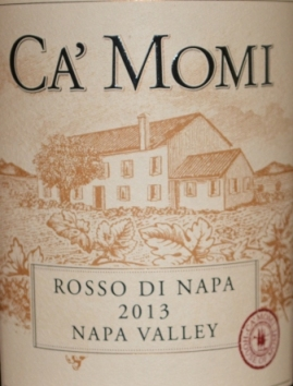 2013 Ca' Momi Rosso di Napa Napa Valley Red Wine