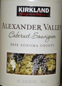 2012 Kirkland Signature Alexander Valley Cabernet Sauvignon