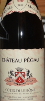 2012 Chateau Pegau Cotes du Rhone Cuvee Maclura