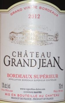 2012 Chateau Grand Jean Bordeaux Superieur