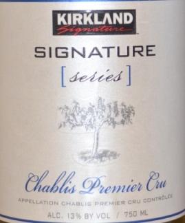 2014 Kirkland Signature Series Premier Cru Chablis