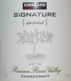 2014 Kirkland Signature Series Russian River Chardonnay