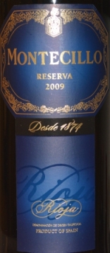 2009 Bodegas Montecillo Rioja Reserva
