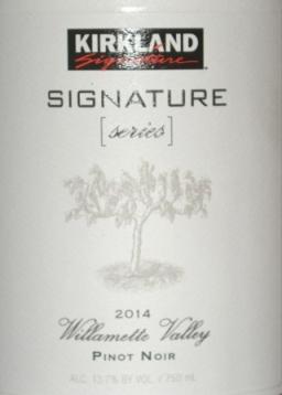 2014 Kirkland Signature Series Willamette Valley Pinot Noir