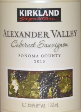 2013 Kirkland Signature Alexander Valley Cabernet Sauvignon