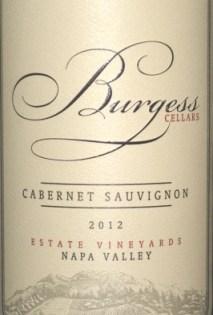 2012 Burgess Estate Napa Cabernet Sauvignon