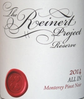 2014 The Reinert Project Monterey Pinot Noir