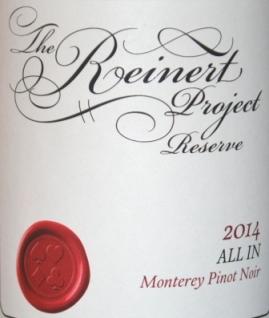 2014 The Reinert Project Monterey Pinot Noir
