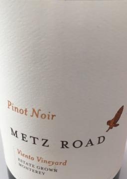 2012 Metz Road Monterey Pinot Noir