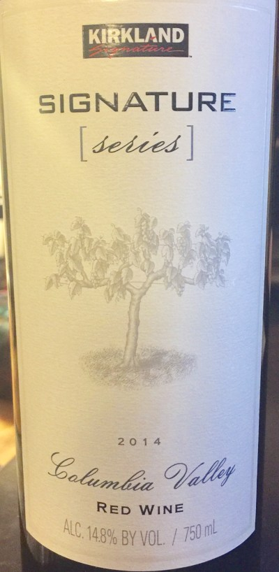 2014 Kirkland Signature Series Columbia Valley Red Wine