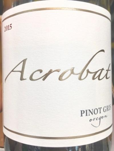 2015 Oregon Acrobat Pinot Gris