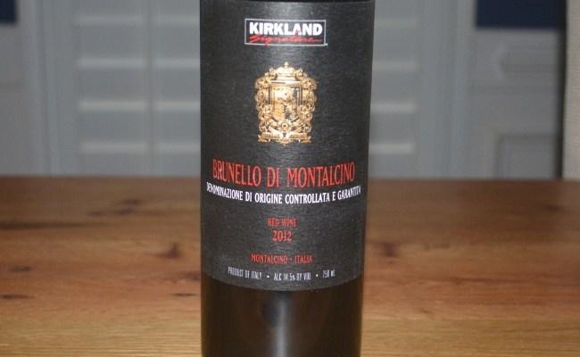 2012 Kirkland Signature Series Brunello di Montalcino