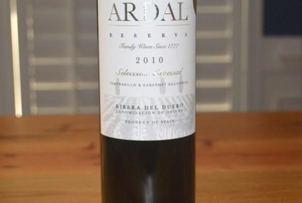 2010 Bodegas Balbas Ardal Reserva Selection Especial Ribera del Duero