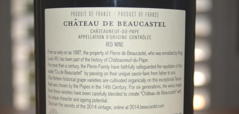 2014 Chateau de Beaucastel Chateauneuf-du-Pape