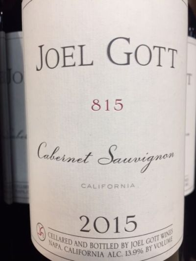 2015 Joel Gott Cabernet Sauvignon