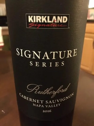 2016 Kirkland Rutherford Cabernet Sauvignon