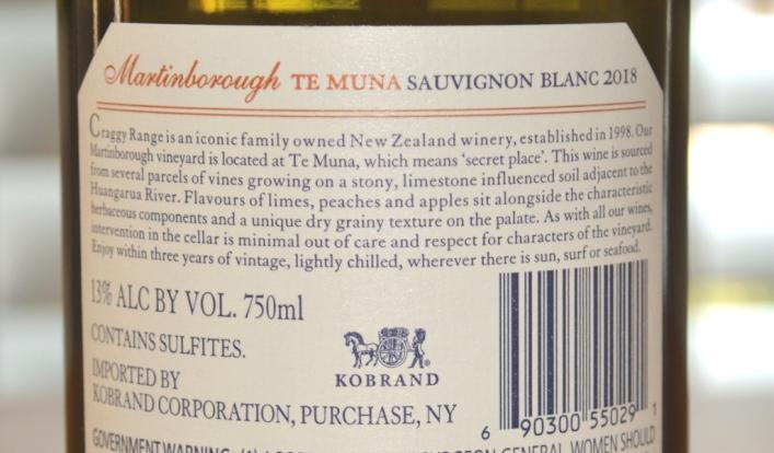 2018 Craggy Range Te Muna Sauvignon Blanc