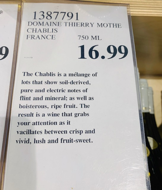 2017 Domaine Thierry Mothe Chablis