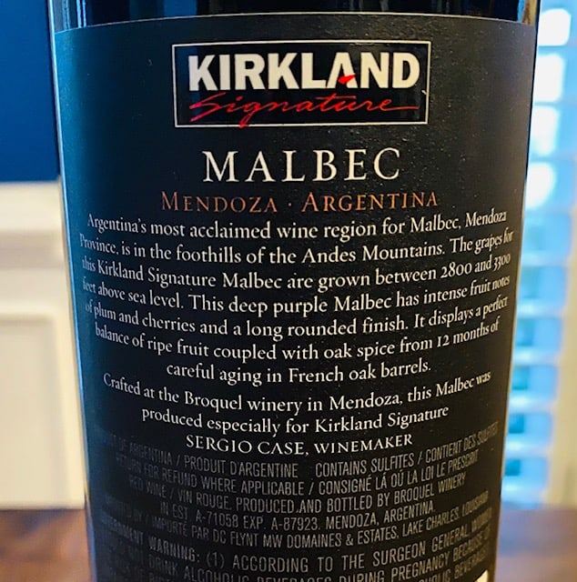 Kirkland Malbec