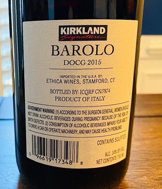 Kirkland Barolo