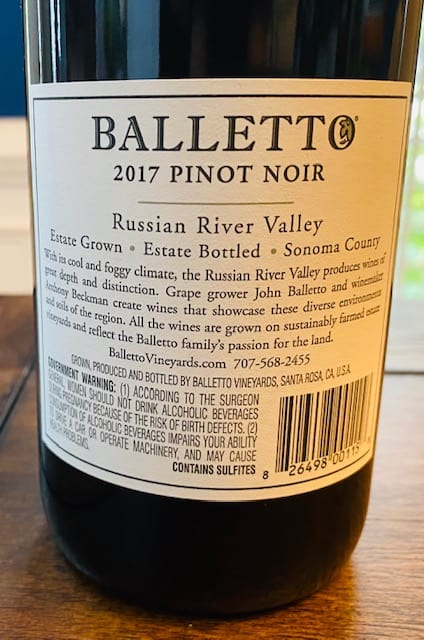 Balletto Pinot Noir
