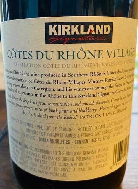 Kirkland Cotes du Rhone