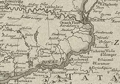 Harta după Bauer 1780