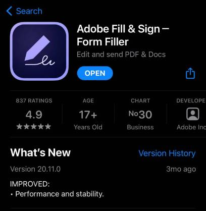 adobe fill and sign form filter
