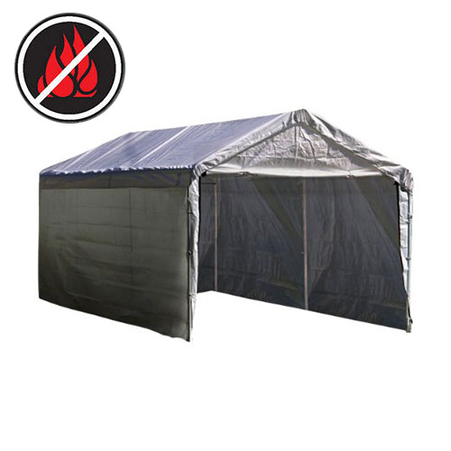 12x20 Replacement Carport 5 Piece Combo Kit Silver Costless Tarps
