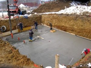 Pouring concrete